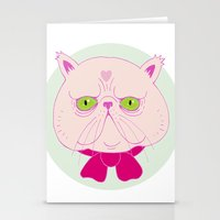 persian Stationery Cards featuring Persian Cat by Madelen Foss
