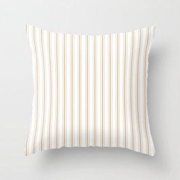 Almond Baby Camel Mattress Ticking Wide Striped Pattern - Fall Fashion 2018 Throw Pillow