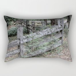 The Old Fence Rectangular Pillow