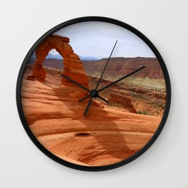 Delicate Arch A Famous Landmark Wall Clock