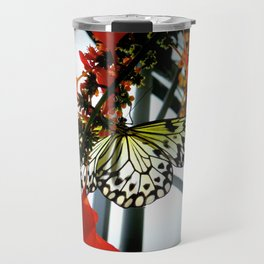 Rice Paper Butterfly Travel Mug