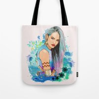 aquarius Tote Bags featuring Aquarius by Sara Eshak