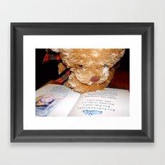 Reading does the mind good Framed Art Print