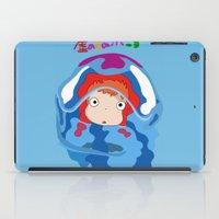 ponyo iPad Cases featuring gake no ue no ponyo by Avengedrian