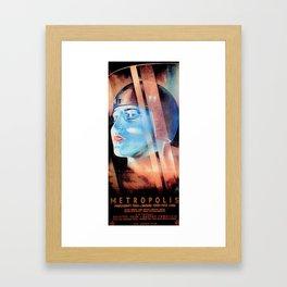 """""""Metropolis"""" Vintage 1927 Art Deco Poster Framed Art Print"""