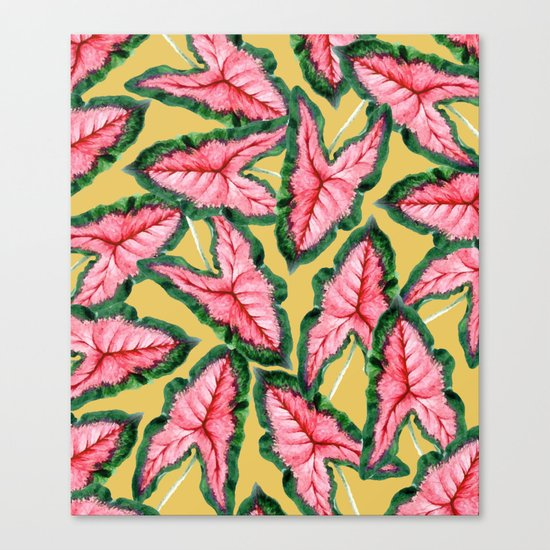 Caladium #society6 #decor #buyart Canvas Print