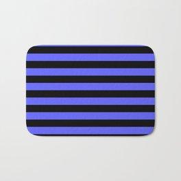 Stripes (Black & Blue Pattern) Bath Mat
