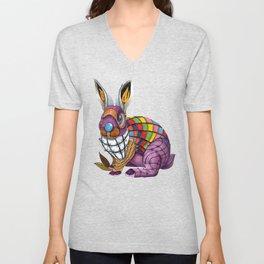 Steampunk Bunny Rabbit Unisex V-Neck