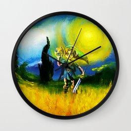 zelda in the meadow Wall Clock