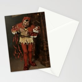"""""""The Court Jester Keying Up"""" by William Merritt Chase Stationery Cards"""