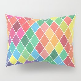 Watercolor Geometric Pattern II Pillow Sham