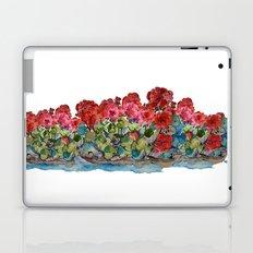Red Geraniums painting Laptop & iPad Skin