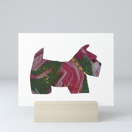 CHRISTMAS SCOTTIE Mini Art Print