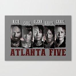 Atlanta Five - The Walking Dead Canvas Print
