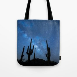 Milky Way, Dreams and Succulents Tote Bag