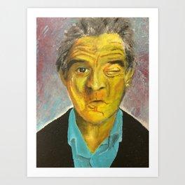 Yellow Robert De Niro Art Print