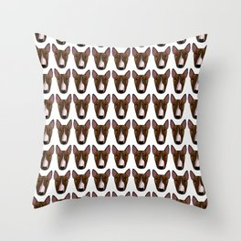 Penny the Bully Throw Pillow