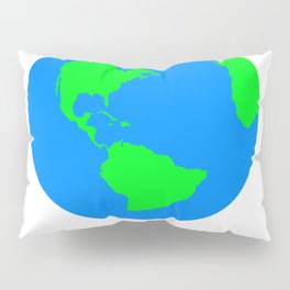 World Map / Earth / Globe Pillow Sham