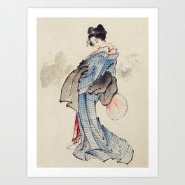Woman Full-Length Portrait Art Print