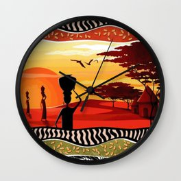 Colors of africa Wall Clock
