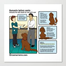Maintenance Pet Grooming vs Matted Shaves Canvas Print