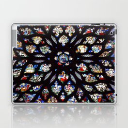 Stained glass sainte chapelle gothic Laptop & iPad Skin
