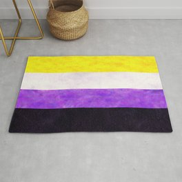 Nonbinary Pride Flag Quilt Rug