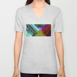 Smudged Colours 4 Unisex V-Neck