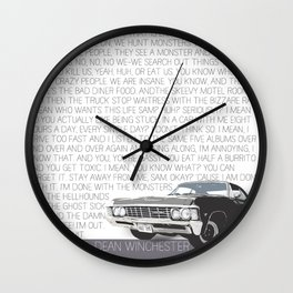 We Hunt Monsters: Supernatural Wall Clock