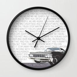 We Hunt Monsters: Supernatural Wall Clock