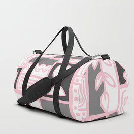 Fishes Seaweeds and Shells - Gray and Pink Duffle Bag