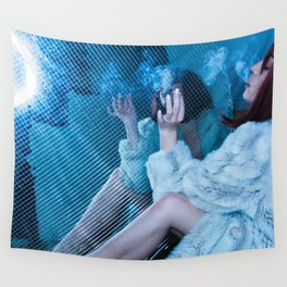Smoked in Mirrors Wall Tapestry