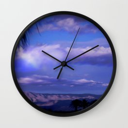 SUNDOWN IN PALM SPRINGS Wall Clock