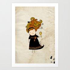 Virgo Girl Art Print