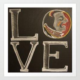 nole love chalk Art Print