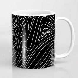 Ocean depth map - black Coffee Mug