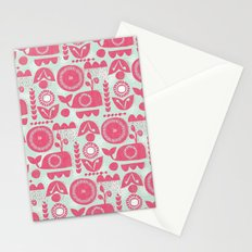 folk whale Stationery Cards