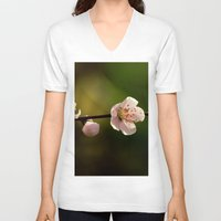 cherry blossoms V-neck T-shirts featuring Cherry Blossoms by Ian Bevington