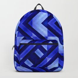 Blue Geometric Abstract  Backpack