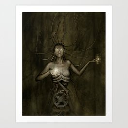 Electric Medusa Art Print