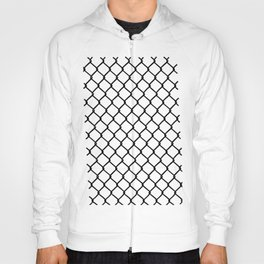 Chain Link Black on Blush Hoody