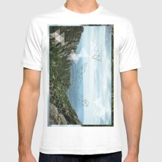 Montserrat, Barca SMALL White Mens Fitted Tee