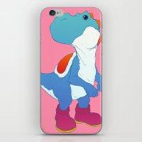 yoshi iPhone & iPod Skins featuring Yoshi Blue by bloozen