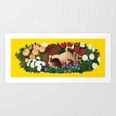 Cat Garden Art Print