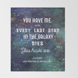 Every Last Star in the Galaxy Throw Blanket