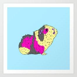 Piggy Stardust - Bowie Guinea Pig Art Print