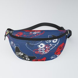 Video Game Red White & Blue 1 Fanny Pack