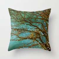 lights Throw Pillows featuring Magical by The Last Sparrow