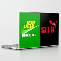 jedi Laptop & iPad Skins featuring JEDI VS DART VADER by BeautyArtGalery