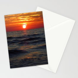 sunset on the sea Stationery Cards